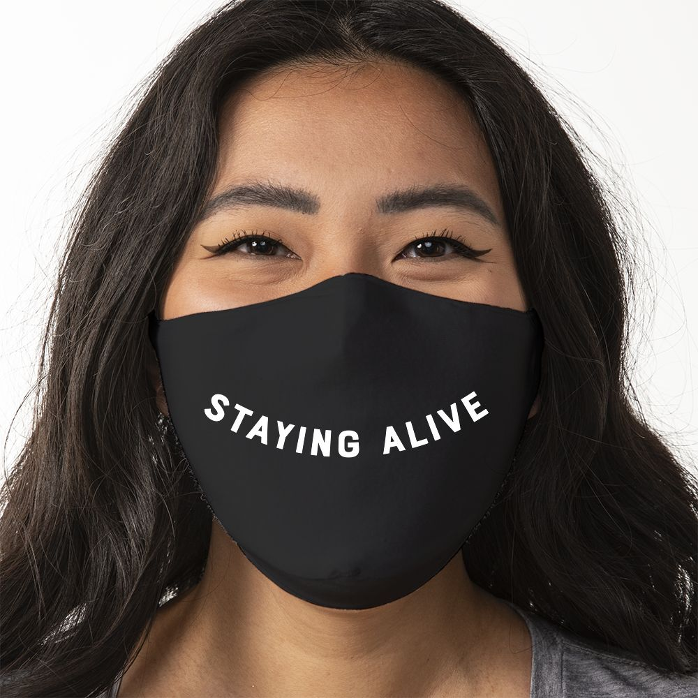 Staying Alive Smile - Super Comfort Cotton Mask Face Mask - Cloth