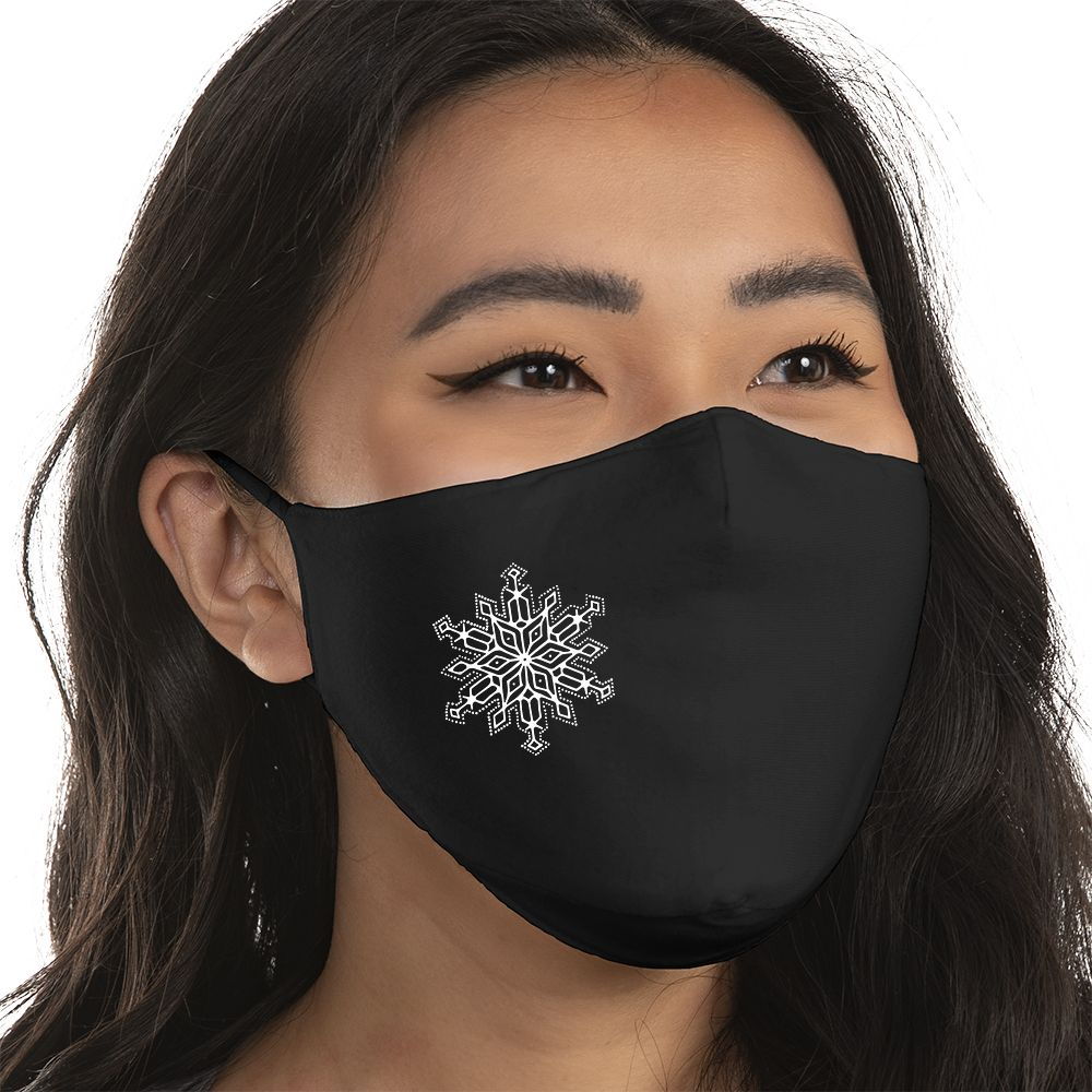 Snowflake - Super Comfort Cotton Mask Face Mask - Cloth