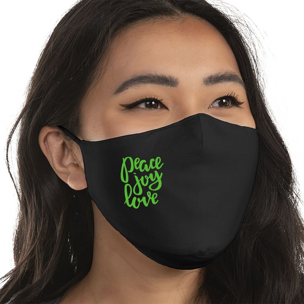 Peace, Joy, Love - Super Comfort Cotton Mask Face Mask - Cloth