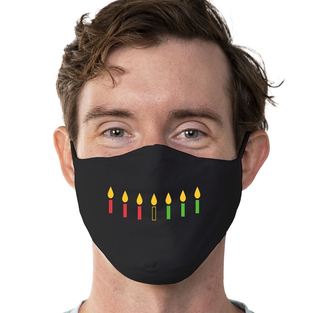 Kwanzaa Smile - Super Comfort Cotton Mask Face Mask - Cloth
