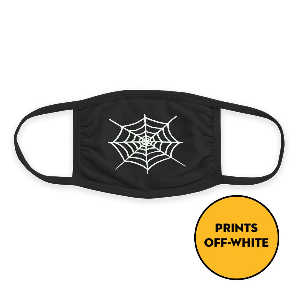 Spider Web  - Glow In The Dark - Triple-Ply Mask Face Mask - Cloth