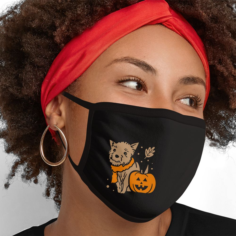 Fall Pup - Triple-Ply Mask Face Mask - Cloth