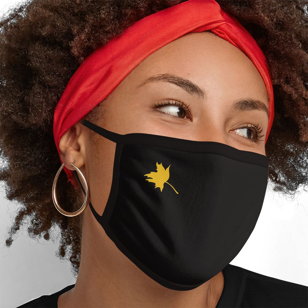 Fall Leaf - Triple-Ply Mask Face Mask - Cloth