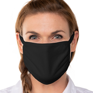 Blank Black Triple‑ply Cotton Face Mask - 10 Pack