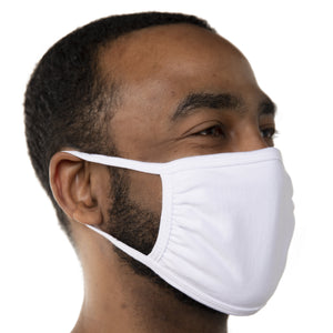 Blank White Triple‑ply Cotton Face Mask - 100 Pack