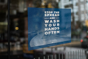 "Window Decal - ""Stop the Spread"" - 5"" x 5"""