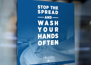 "Window Decal - ""Stop the Spread"" - 8"" x 8"""