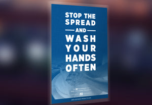 "Window Decal - ""Stop the Spread"" - 12"" x 18"""