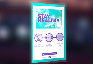 "Window Decal - ""Stay Healthy"" - 12"" x 18"""