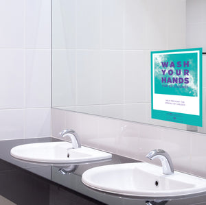 "Mirror Decal - ""Wash Your Hands - For 20 Seconds"" - 5"" x 7"""