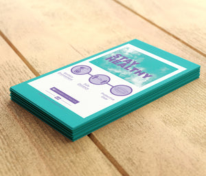 "Counter Cards - Small - ""Stay Healthy"" - 6"" x 4"""