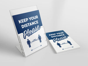 "Counter Cards - ""Keep Your Distance"" - 8.5"" x 11"""