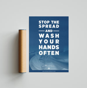 "Poster - Laminated - ""Stop the Spread"" - 18"" x 24"""