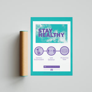 "Poster - Laminated - ""Stay Healthy"" - 18"" x 24"""