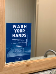 "Mirror Decal - ""Wash Your Hands - You Play a Part"" - 5"" x 7"""