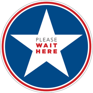 "Floor Decal - ""Please Wait Here"" - 12"" x 12"""