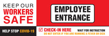 "Load image into Gallery viewer, Outdoor Banner - ""Employee Entrance"" - 70"" x 24"""