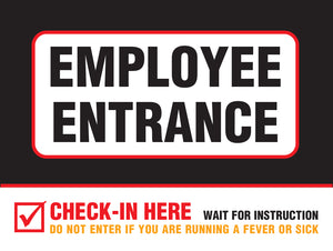 "Poster - ""Employee Entrance"" - 18"" x 24"""