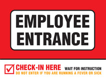 "Load image into Gallery viewer, Poster - ""Employee Entrance"" - 18"" x 24"""