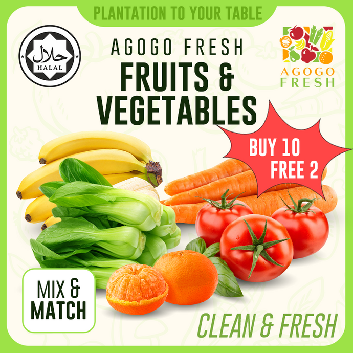 [Buy 10 Free 2] $2 10 Pack Vegetables & Fruits