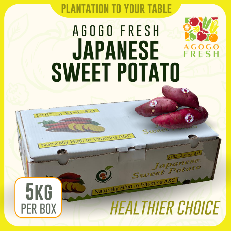 Japanese Sweet Potato Box - Purple (5kg)