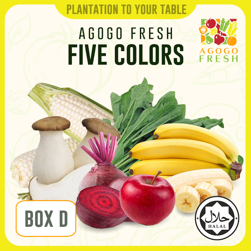 [Veg/Fruits Box] Box D Five Colors