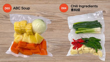 Load image into Gallery viewer, 5 Packs Cut Vegetables with Vacuum Packing