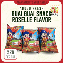 Load image into Gallery viewer, Guai Guai Rice Crackers - Roselle (52g)