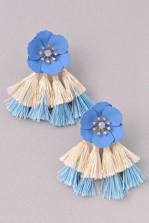 Blue Alexa Earrings