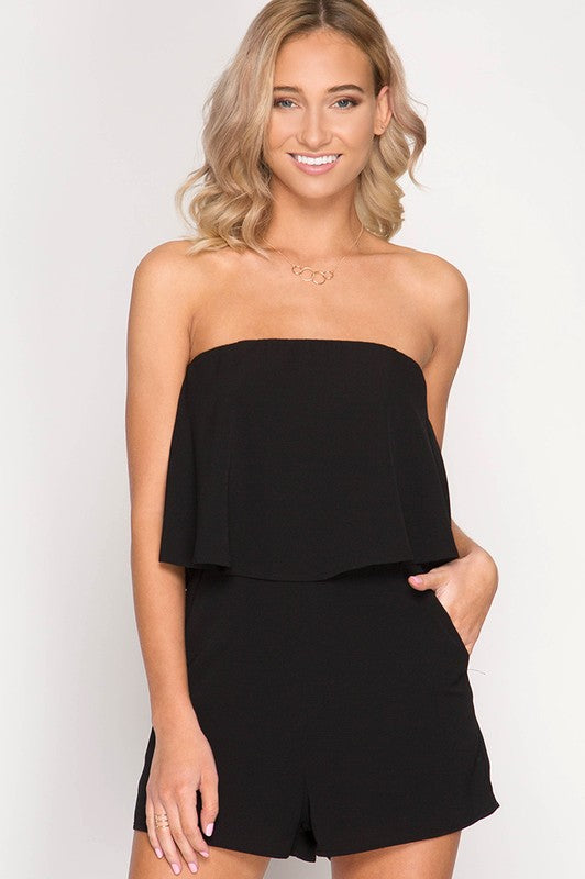 Black Kinsley Romper