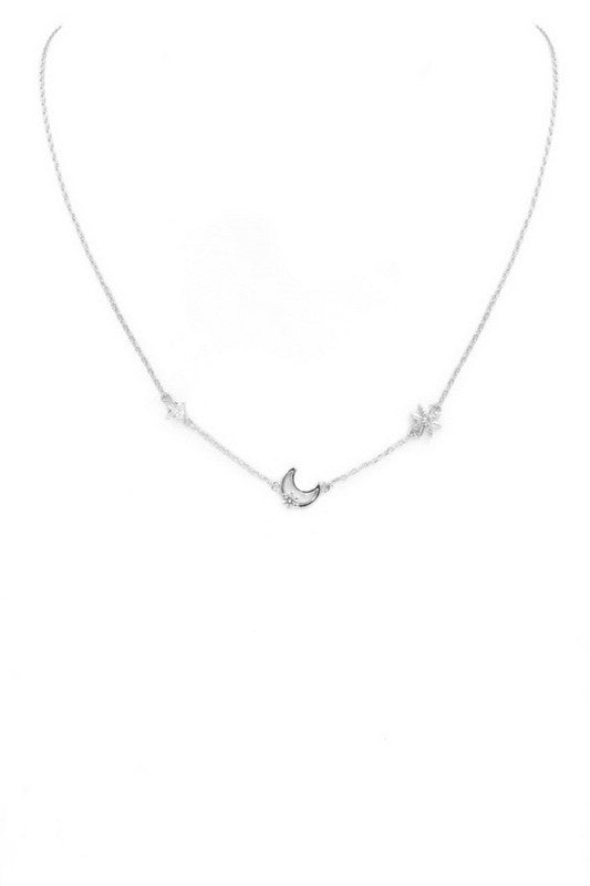 Ruby Necklace - Silver