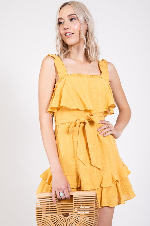 Isabella Dress - Mustard