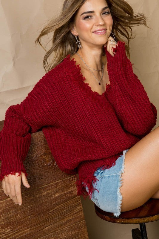 Kacie Sweater - Burgundy