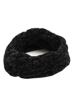 Cozy Knit Headband - Black