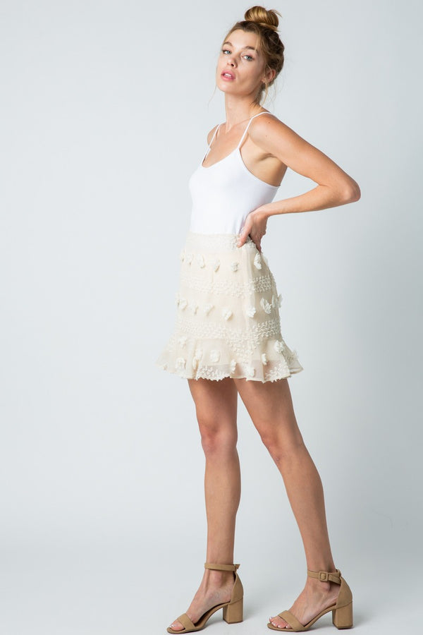 Baylee Skirt - Cream