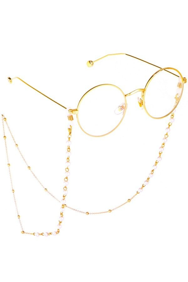 Sunglasses Chain - Pearl Gold