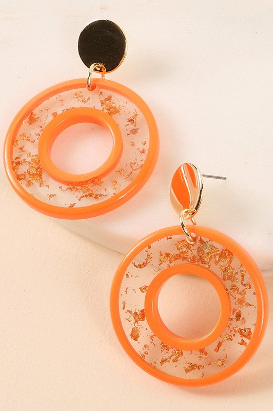 Dakota Earrings - Orange