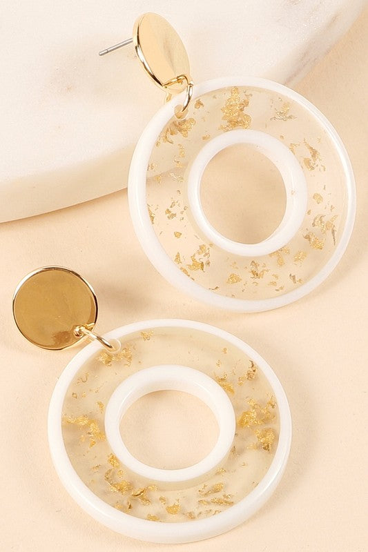 Dakota Earrings - White