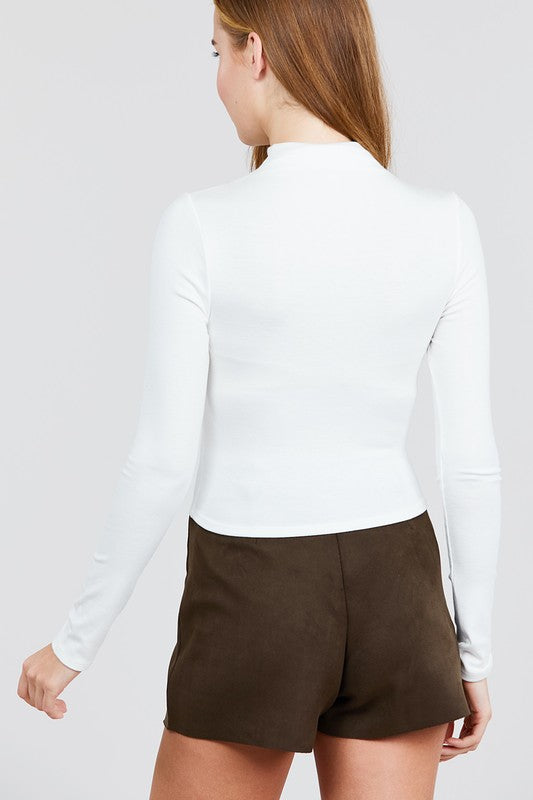 Natalie Turtleneck - White