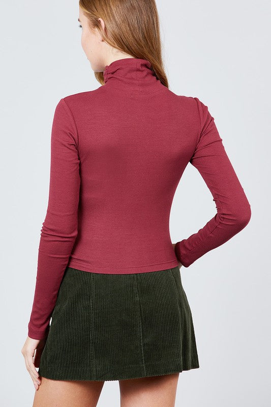 Elise Turtleneck - Garnet