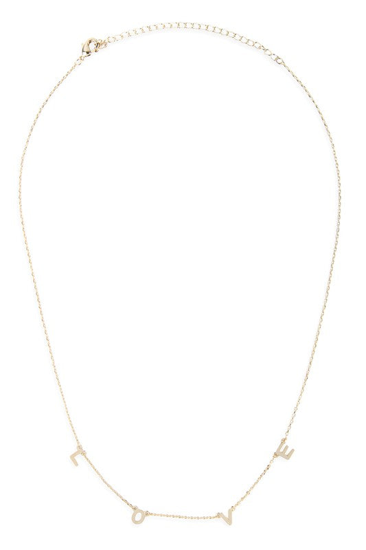 Love Necklace - Gold
