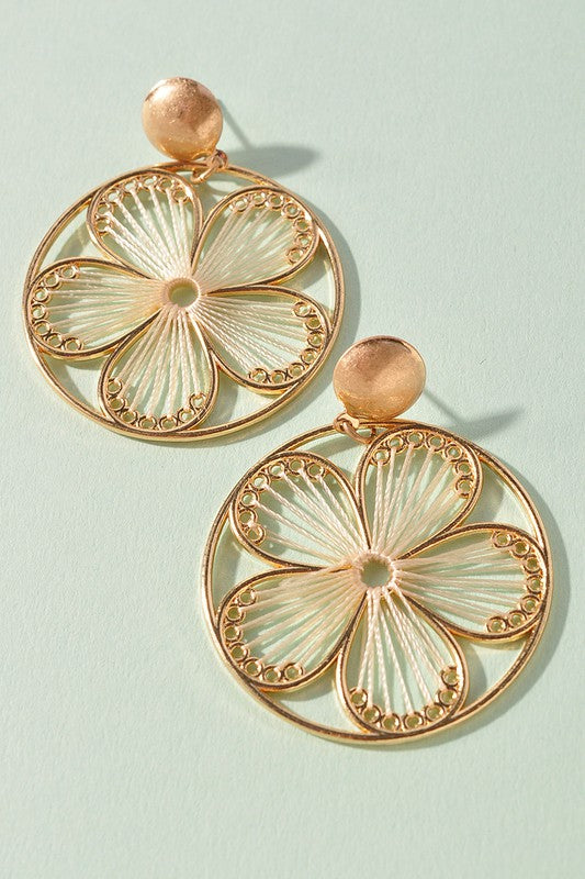 Raelynn Earrings - Cream