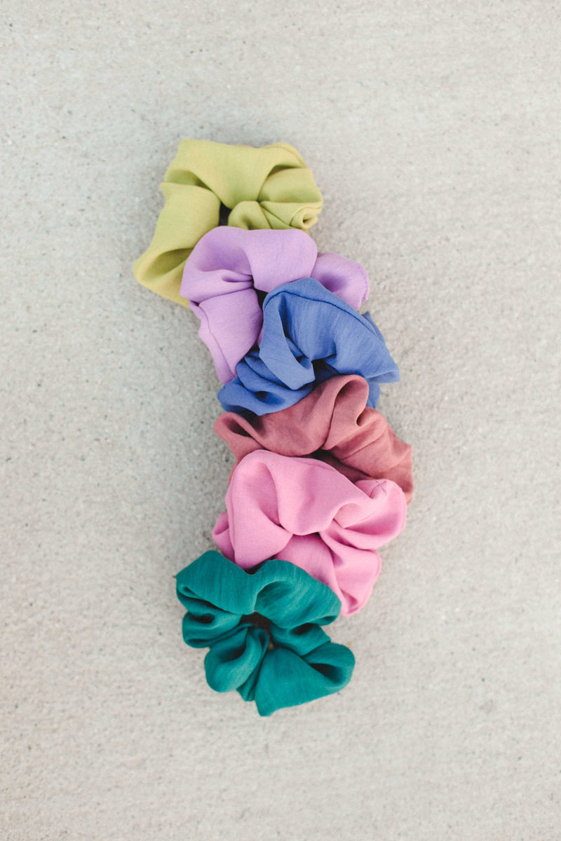 Solid Scrunchie - Yellow Green