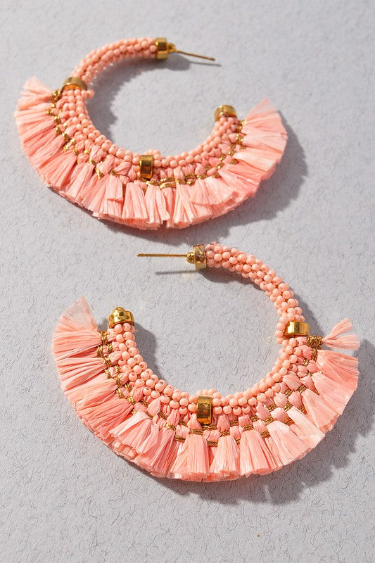 Willow Earrings - Pink