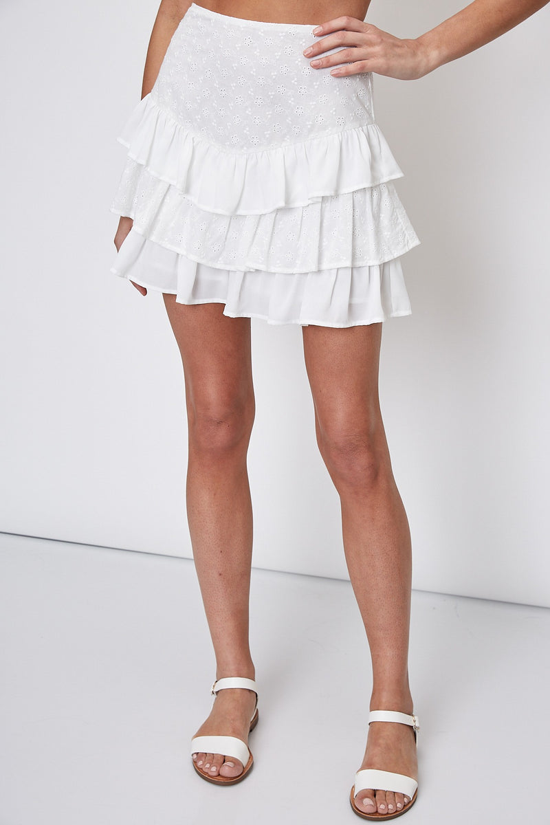 Gigi Skirt - White