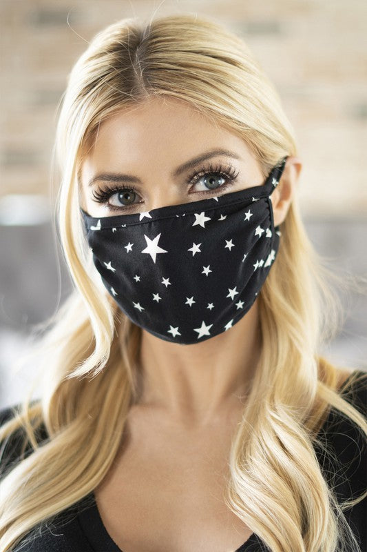 Face Mask - Black Star