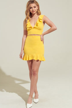 Aubree Skirt - Yellow