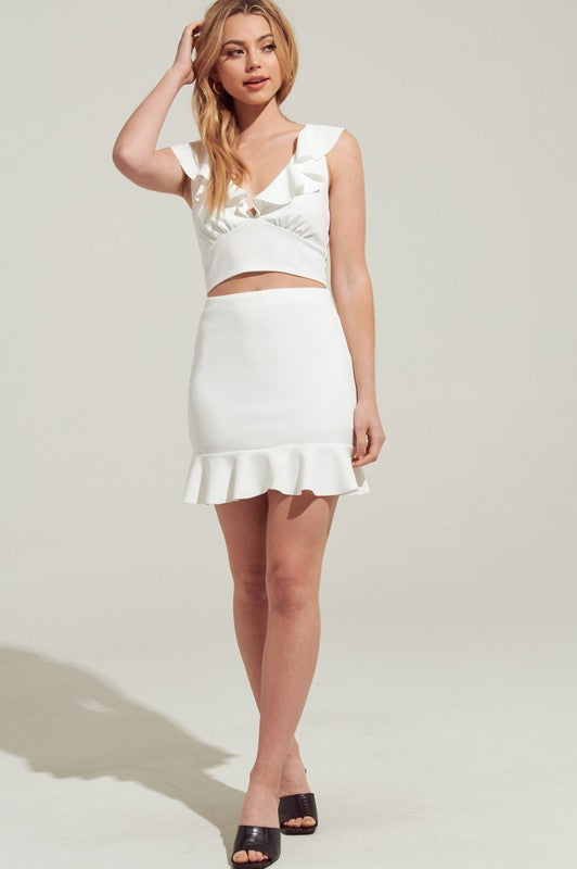 Aubree Skirt - White