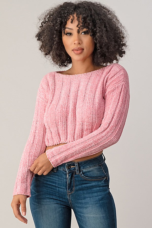Peyton Sweater - Rose