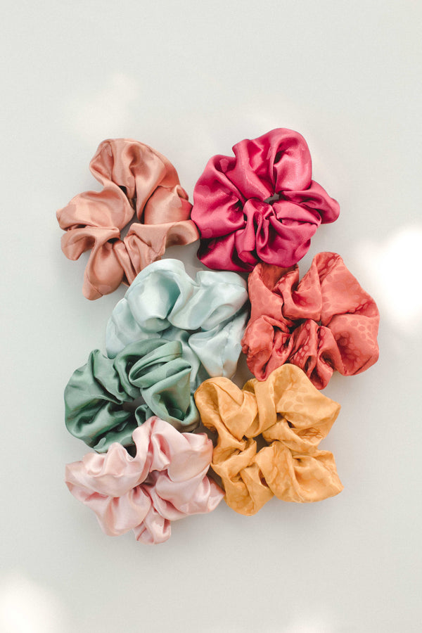 Satin Scrunchie - Blue